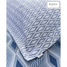 Bianca Ziggurat Navy Oxford Pillowcase
