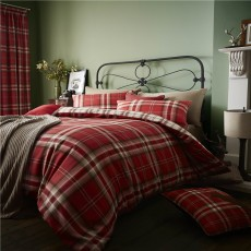 Catherine Lansfield Kelso Red Duvet Set