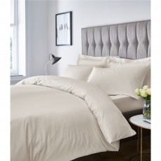 Catherine Lansfield 300TC Satin Stripe Cream Duvet Set