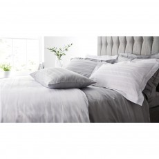 Catherine Lansfield 300TC Satin Weave Hotel Stripe Grey Duvet Set