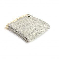 Tweedmill Pure New Wool Fishbone Throw