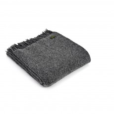 Tweedmill Pure New Wool Slate Wafer Throw