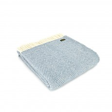 Tweedmill Pure New Wool Petrol Beehive Throw