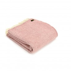 Tweedmill Pure New Wool Dusky Pink Beehive Throw