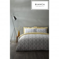 Bianca Ziggurat Grey Duvet Cover Set