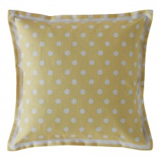 Cath Kidston Button Spot Yellow Cushion