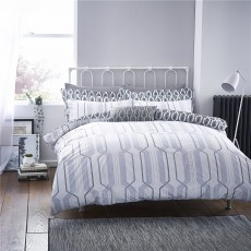 Bianca Geo Cotton Print Duvet Set
