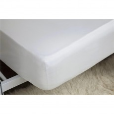 Belledorm 200TC Cotton/Polyester White Fitted Sheet 38cm Box