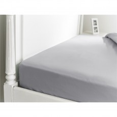 The Lyndon Company 400 Thread Count Platinum Fitted Sheet