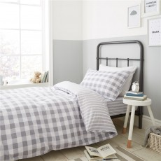 Bianca Check and Stripe Grey Duvet Set