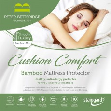 Peter Betteridge Protectors Cushion Comfort Bamboo Mattress Protector