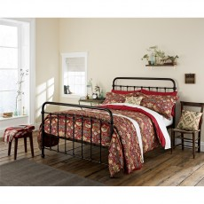 Morris & Co Strawberry Thief Crimson Duvet Cover