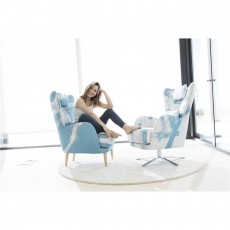 Fama Kylian Armchair with Swivel Base