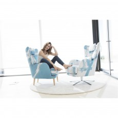 Fama Kylian Armchair with Wooden Legs