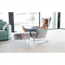 Fama Kylian Rocking Armchair and Footstool