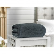Deyongs Snuggle Touch Charcoal Throw