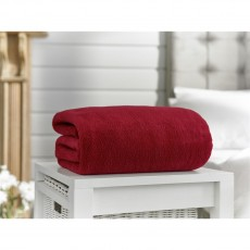 Deyongs Snuggle Touch XL Oxblood Throw