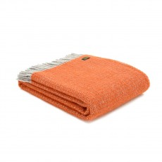 Tweedmill Pure New Wool Illusion Throw Pumpkin
