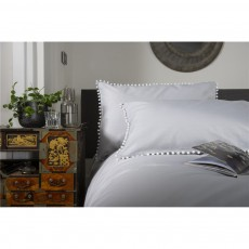 The Lyndon Company Grey Pom Pom Duvet Set